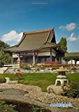 notebook: a4 cute lined journal | temple japanese asia architecture zen shinto