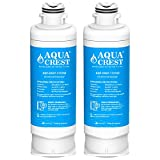 AQUACREST DA97-17376B Refrigerator Water Filter, NSF Certified, Compatible with Samsung DA97-17376B, DA97-08006C, HAF-QIN, HAF-QIN/EXP (Pack of 2)