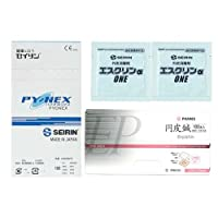 SEIRIN(セイリン) パイオネックス 1.2mm + ファロス円皮鍼 太さ 0.18mm×針長0.9mm + エスクリンαONE x 2個 セット