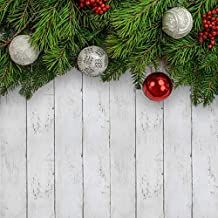 Christmas Decor White Gray Wood Wallpaper 17.71In X 78.7 in Peel and Stick Wallpaper Self-Adhesive Removable Wallpaper Home Decoration Renovate Furniture Use for Wall DIY Easy to Clean
