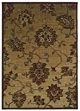 Sphinx Allure Area Rug 054A1 Casual Beige Vines Leaves 3' 10' x 5' 5' Rectangle