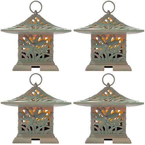 Westinghouse 4 Pack LED Outdoor Fragrance Warmers Flameless Lantern & Air Freshener Outdoor Decor