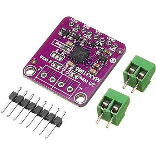 DDyna MAX31865 Módulo Detector de Temperatura de Resistencia de Platino Sensor RTD Sensor de Temperatura PT100 y PT1000 - Púrpura