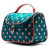Cute Travel Makeup Bag, Yeiotsy Cute Polka Dots Toiletry Bag with...