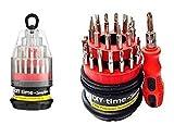 Tommy Walsh Fine DIY Time Lot de tournevis de précision 31-en - 1 Mini Kit d'Outils Allen Torx étoile