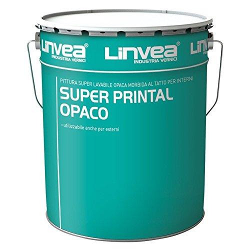 Linvea Super Printal Opaco Pittura Superlavabile per interni 14LT