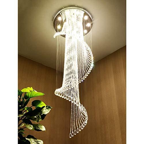 PXY Moderno K9 Cristal Spral Raindrop Archandelier Iluminación Flush Monte Led Luz de Techo Lámpara Colgante para Comedor Cuarto de Baño Dormitorio Sala de Estar 9 Gu10 Bulbos Linterna