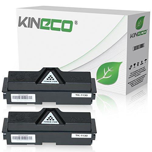 2 Toner kompatibel für Kyocera TK1130 ECOSYS M-2030 DN PN 2530 DN FS-1030 1130 MFP DP - 1T02MJ0NL0 - Schwarz je 3.000 Seiten