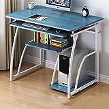 Escritorio portátil para computadora portátil con estantes de almacenamiento robusto escritorio de oficina con soporte de CPU portátil mesa de estudio estación de trabajo C-A