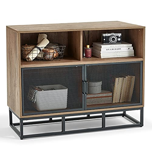 Linsy Home Console Table, Wood Console Cabinet with Storage Support with Metal Frame for Living Room...