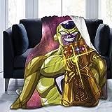 not applicable Anime Dragon Ball Frieza Infinity Gauntlet Throw Blanket Cubrecama Cubrecamas Microfibra Microfibra Ultra Suave Cálido Sherpa Fleece Fuzzy Throw Mantas para sofá Cama Dormitorio Sofá