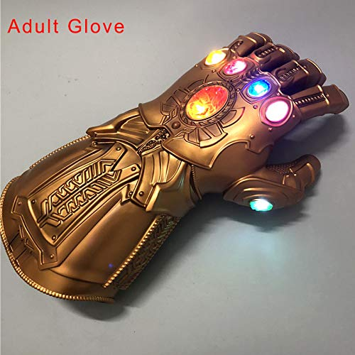Wodeni Avengers Thanos Cosplay Glove PVC LED Gloves Toys Gift Halloween Cosplay Props