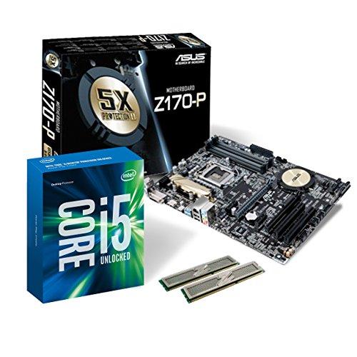 Memory PC Aufrüst-Kit Bundle i5-6500 6. Generation (Quadcore) Skylake 4X 3.2 GHz, 32 GB DDR4, ASUS Z170-P, 1792 MB Intel HD 530, USB 3.0, komplett fertig montiert und getestet