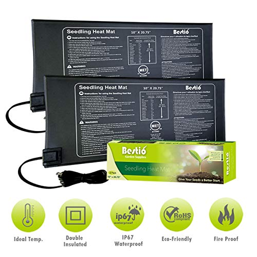 Bestio MET Safety Certified Seedling Starter Heat Mat Plant Heating Pad 10X2075 inches Optimal Even Constant Temperature Heavy Duty IP67 Waterproof Ideal for Hydroponic Seed Germination Propagation