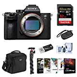 Sony a7R III Mirrorless Digital Camera Body - Bundle with Camera Bag, 32GB SDHC U3 Card, Table Top Tripod, Cleaning Kit, Memory Wallet, Card Raeder, PC Software Package