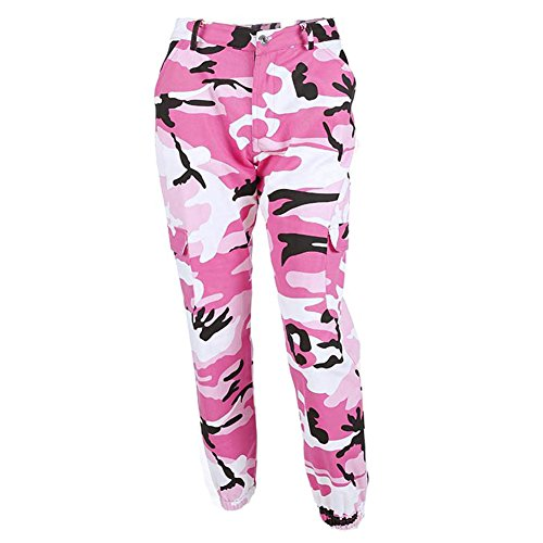 Yying Camouflage Hose Mädchen Military Hose Jogger Dance Hose Pink M