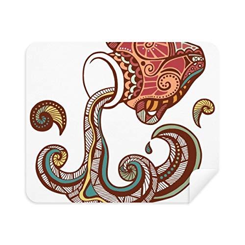 Aquarius sterrenbeeld Zodiac Symbool Telefoon Schermreiniger Bril Reinigingsdoek 2 stks Suede Stof