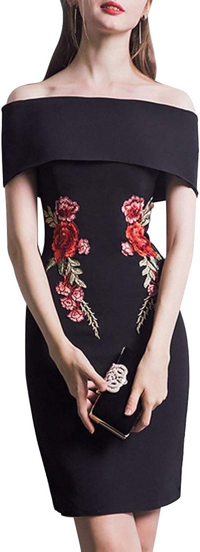 Women's Off Shoulder Slim ALine Evening Party Dress Bridesmaid Dress (Size   XL)