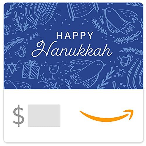 Amazon eGift Card - Blue Happy Hannukah Icons