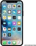 Apple iPhone X, 64GB, Silver - Fully Unlocked (Renewed)