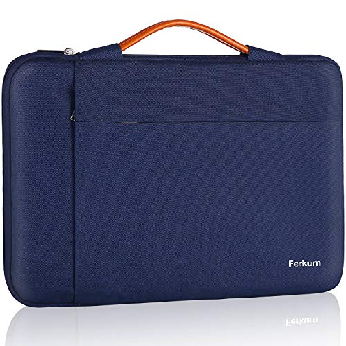 Ferkurn 13 13.3 13.5 Inch Laptop Sleeve Case Water Repellent Bag with Handle Compatible with MacBook Pro 13.3',Notebook Tablet iPad Tab 13', Protective Computer Carrying Computer Case, Blue