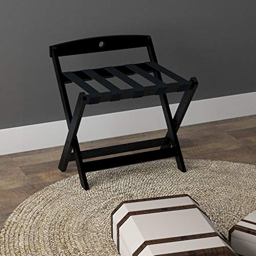 Best Review Of Folding Luggage Rack Solid Wood Luggage Rack Portable Hotel Special use Folding Suitc...