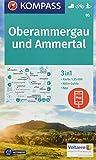 KOMPASS Wanderkarte Oberammergau und Ammertal: 3in1 Wanderkarte 1:35000 mit Aktiv Guide inklusive Karte zur offline Verwendung in der KOMPASS-App. ... Langlaufen. (KOMPASS-Wanderkarten, Band 5) - KOMPASS-Karten GmbH