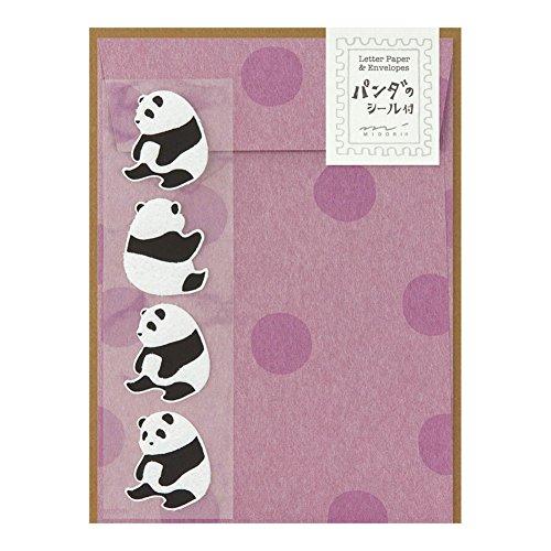 ミドリ レターセット パンダ柄 シール付 86396006