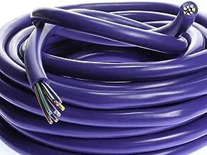 VOODOO 18 AWG Gauge 9 Conductor Speed Blue Wire Speaker Trailer Copper Stranded (25 FT)