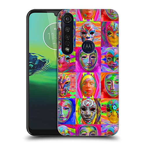 Officiële Howie Green Pop Art Maskers Carnaval Hard Back Case Compatibel voor Motorola Moto G8 Plus