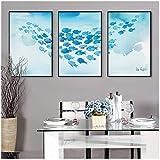 Aquarell Kunstdrucke Fisch Spaß PosterHipster