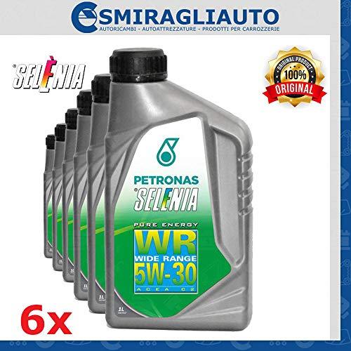 6 Litri Olio motore sintetico SELENIA WR PURE ENERGY SAE 5W30 ACEA C2