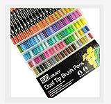 Rotulador,bolígrafo para colorear de 0,4 mm para adultos y niños, se puede utilizar para bocetos, tarjetas, caligrafía, diario, cómics, rotulador de acuarela de punta fina