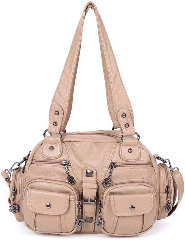 Women's Bag PU Single Shoulder Bag Handbag Oblique Bag Pure color Fashion Dumpling Bag Small Package Tide