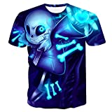 GuiSoHn Hombre Mujer T-Shirt 3D Undertale Impresa Unisex Camisetas de Manga Corta Casual Camisas Deportivas Sport tee Tops M