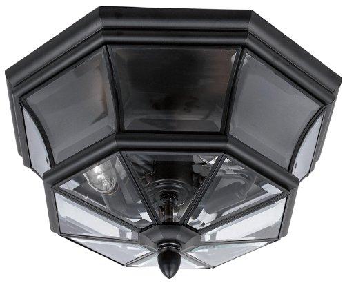 Quoizel NY1794K  Newbury 3-Light Outdoor Lantern, Mystic Black