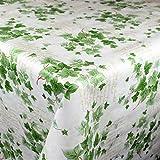KEVKUS Tovaglia cerata 160 cm larghezza B8965-01 Edera fiori fiori fiori giardino estate primavera a scelta in forma quadrata ovale (bordo con nastro in plastica), 120 x 160 cm ovale