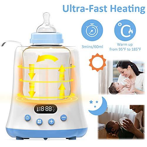 Calienta Biberones Eccomum 6 en 1 - Calentamiento Ultrarrápido, Descongelado para Leche Materna/Fórmula/Potitos, LED, Temporizador, Apagado Automático