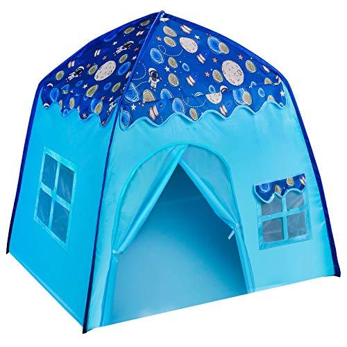 Tienda de campaña BEILIHART Space World Play para niños y niñas, casa de juegos para acampar, casa de juegos, astronauta para niños, diversión en interiores y exteriores, regalo perfecto para niños