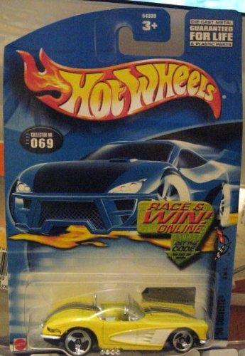 Hot Wheels 2002 '58 Corvette #69 Corvette Series 3/4 YELLOW 1:64 Scale by Mattel