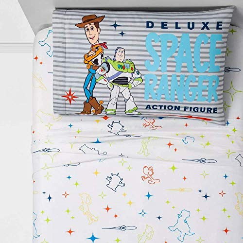 """Franco Toy Story 4 -""""Space Ranger 3 Piece Twin Sheet Set"""