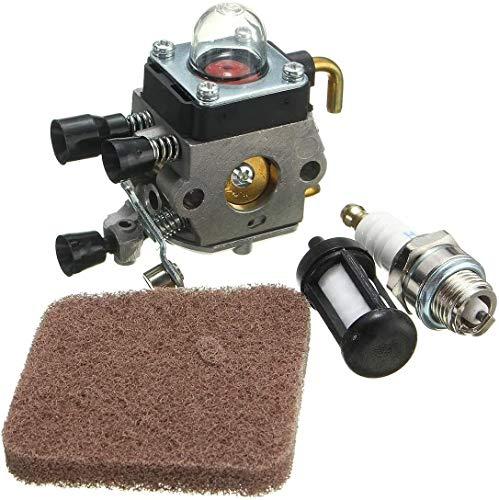 Reemplazar el carburador del Motor Parte Limpiador de carburador Zama Kit for STIHL FS45 FS55R FS55RC HL45 carburador Carb + Spark Plug + Filtro de Combustible del carburador Kit carburador 1027