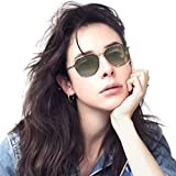 Women Retro Sunglasses - Avoalre Polarized Sunglasses for Women Vintage Retro Round Mirrored Lens - UV400 Protection-Green