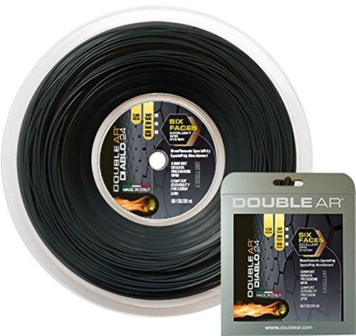 DOUBLE AR - Corda da Tennis Diablo 24, Monofilamento Co-Poliestere 1.24mm Nera. Matassa 200Mt
