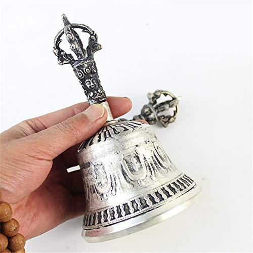 FFDGHB Handgemachte Tibetische Meditation Hand Glocke Messing Gebet Gebet Buddhistischen King Kong Geist/Entspannung/Meditation/Yoga Geschenk 16 * 9 cm
