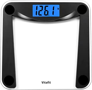 Vitafit Digital Body Weight Bathroom Scale with Step-On Technology,Weighing Scale with Extra Large Blue Backlit Display,40...