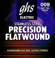 ghs (ガス) 750 Precision Flatwound Flat Wrap Stainless Steel electric guitar strings エレキギター弦 【12セット】