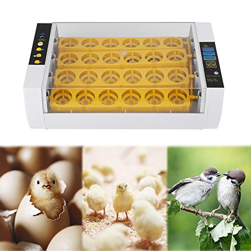 Yosooo Incubator Hatcher-24 Digital Clear Egg Turning Incubator Hatcher Temperature Control Egg Incubator Hatching Machine (60W-24Egg)