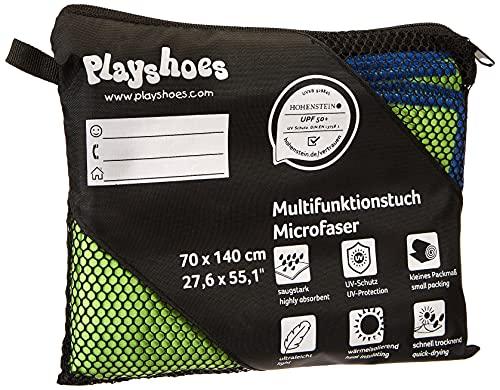 Playshoes Unisex Multifunktionstuch, Badehandtuch Mikrofaser Tragbare Decke, grün, 90 x 180 cm