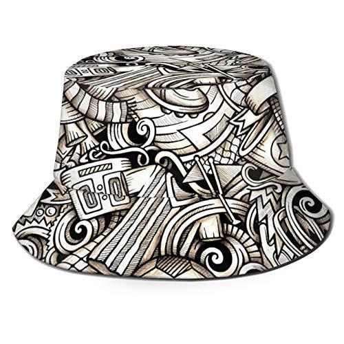 HARLEY BURTON Sombrero unisex de pescador sombrero de fútbol zapatos deportivos puntuación trofeo cronómetro viajes playa sol sombreros para hombres mujeres negro